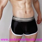 Super Body Men Underwear  Low Waist Boxer Shorts (Black)