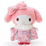 My melody plush toy Cherry Blossom kimono ตุ๊กตามายเมโลดี้ ชุดกิโมโนซากุระสีหวาน