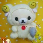 ตุ๊กตาหมีโครีแลคคุมะชุดแกะ San-x Korilakkuma Sheep (Good Night theme 2006)