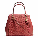 Pre-Order Coach MADISON NORTH/SOUTH SATCHEL IN GATHERED TWIST LEATHER STYLE NO. 25984