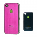 I Phone 4,4S Luxury Brushed Electroplating : Pink