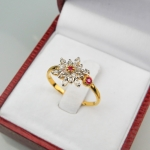 แหวน 9K เพชรดอกพิกุล