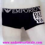 Emporio Armani Men Underwear Paul & Shark Trunk (Black)