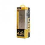 อะแดปเตอร์ชาร์จไฟ USB 4 Port REMAX รุ่น RU-U2 สีทอง