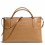 Pre-Order Coach THE WEEKEND BOROUGH BAG IN RETRO GLOVE TAN LEATHER STYLE NO. 30379