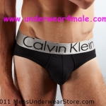 Calvin Klein Men Underwear Steel Brief (Black)