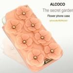 เคสไอโฟน5s / 5 แบบซองประดับดอกไม้ 3D สวยหวาน ราคาส่ง ขายถูกสุดๆ