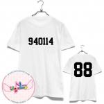 [FANMADE]เสื้อวันเกิด EXO-K Football T-shirt (สีขาว) KAI 940114 - 88