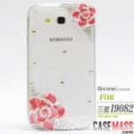 Case Samsung Galaxy Grand i9082-i9080 เคส TPU ใสประดับด้วยเพชรคริสตัลและดอกไม้ หรูหรา หวานๆ สวยๆ