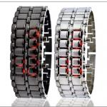 นาฬิกาข้อมือ LED แฟชั่น รุ่น iron samurai