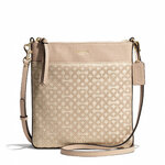 Pre-Order Coach MADISON NORTH/SOUTH SWINGPACK IN OP ART PEARLESCENT FABRIC STYLE NO. 50834