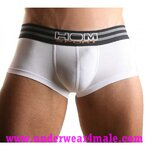 HOM Men Underwear Sport Boxer Trunk (White)