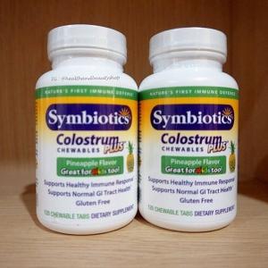 # ภูมิคุ้มกัน # Symbiotics, Colostrum Plus, Chewables, Pineapple Flavor, 120 Chewable Tabs