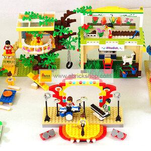 ร้านค้า (Shop) W-set 1. ตัวต่อเลโก้จีน ชุดรวมร้านค้า (ชุด 5 กล่อง)