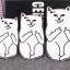 เคสซิลิโคน 3D แมว ไอโฟน 4/4s thumbnail 3