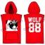 [พร้อมส่ง] เสื้อฮู้ดแขนกุดกว้าง EXO WOLF 88 (สีแดง) thumbnail 1