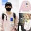 เสื้อแฟชั้นเกาหลีแขนยาว EXO Chanyeol 2NE1 DARA สีชมพู thumbnail 1