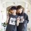 [พร้อมส่ง] เสื้อฮู้ดแขนกุดกว้าง EXO WOLF 88 (สีเทา) thumbnail 3
