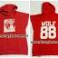 [พร้อมส่ง] เสื้อฮู้ดแขนกุดกว้าง EXO WOLF 88 (สีแดง) thumbnail 5