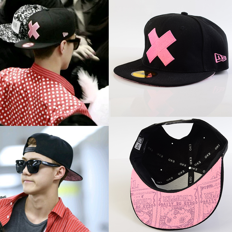 หมวกแฟชั่น EXO SEHUN ONE PIECE Chopper One Piece (สีดำชมพู)