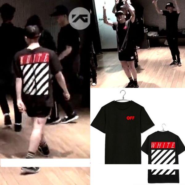 เสื้อยืดแฟชั่นเกาหลี BIGBANG GD Made White