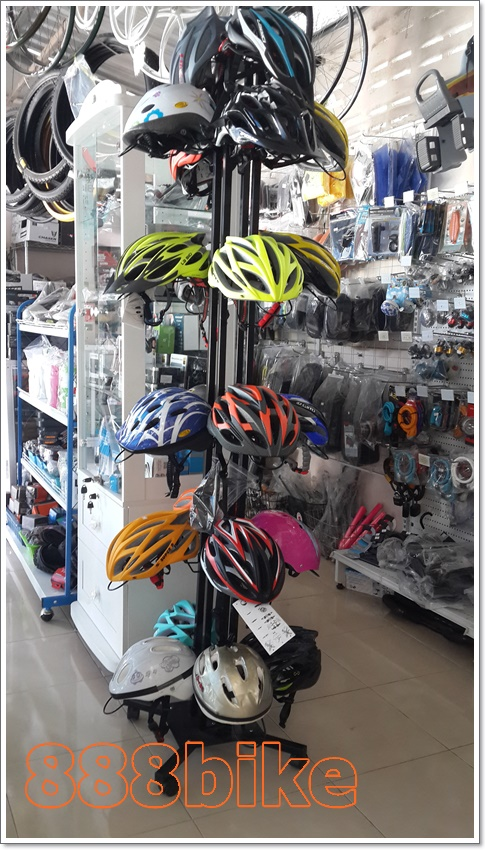 แท่นโชว์หมวกจักรยาน Bicycle Helmet display stand ,KW-7079