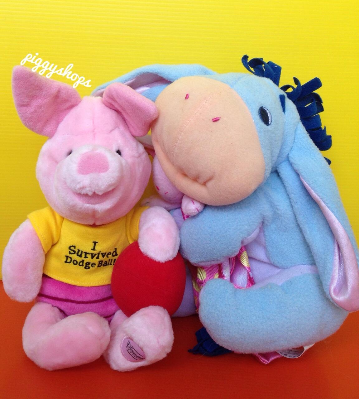 ตุ๊กตาหมูน้อยพิกเล็ก Piglet of Winnie the pooh งานดิสนีย์เจแปน size: ยืน 10 นิ้ว นั่ง 7 นิ้ว