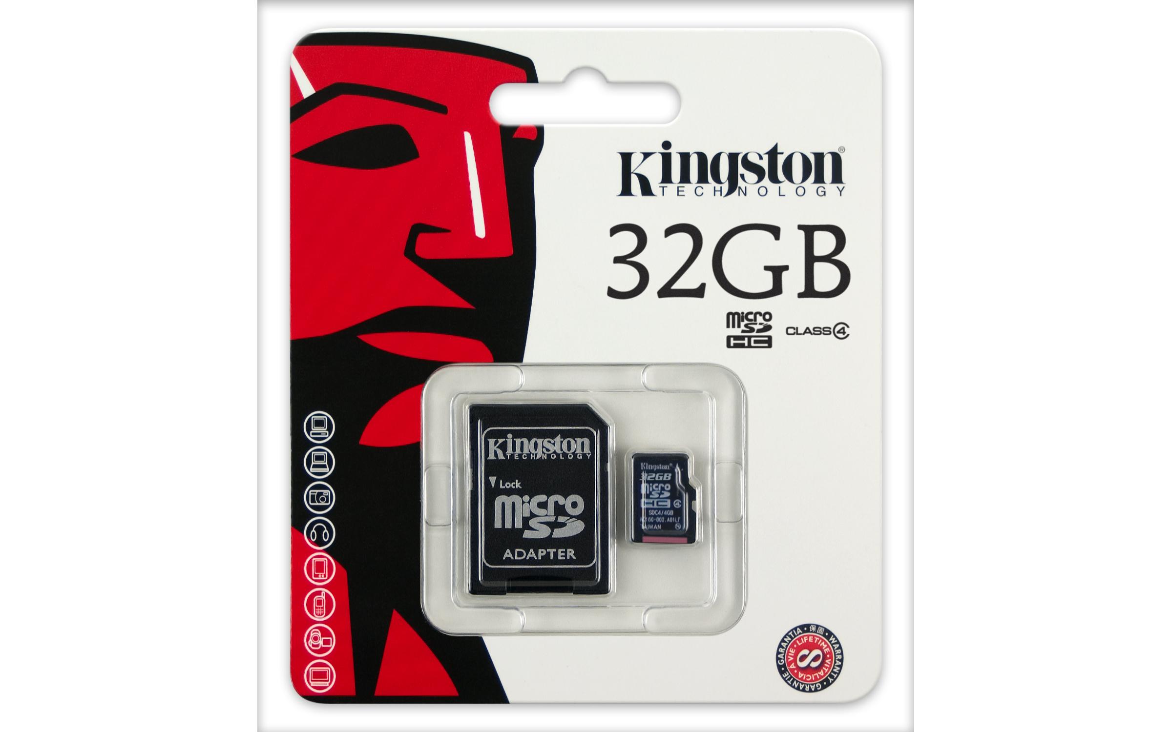 เมมโมรี่ การ์ด Kingston Memory Micro SD Card Class 4 - 32GB