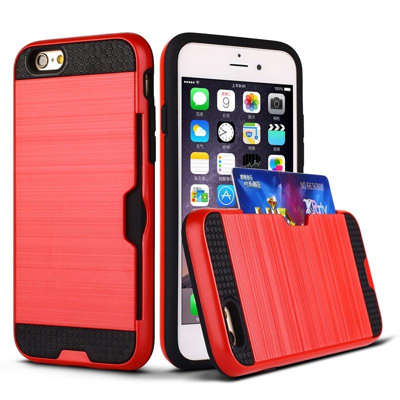 เคสกันกระแทกใส่นามบัตรได้ ไอโฟน 6/6s plus 5.5 นิ้ว