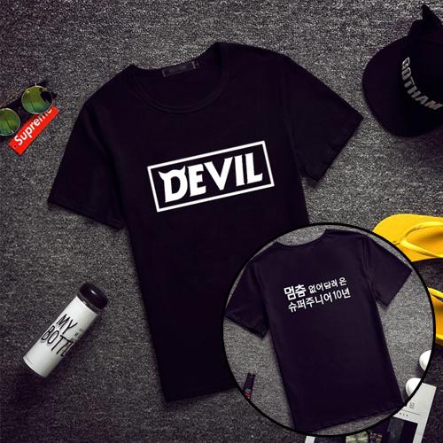 เสื้อยืด SJ SUPER JUNIOR Devil สีดำ