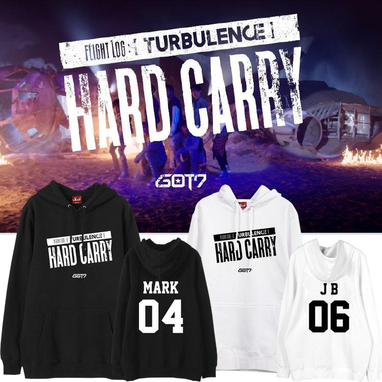เสื้อฮู้ด (Hoodie) GOT7 Hard Carry (ชื่อเมมเบอร์)