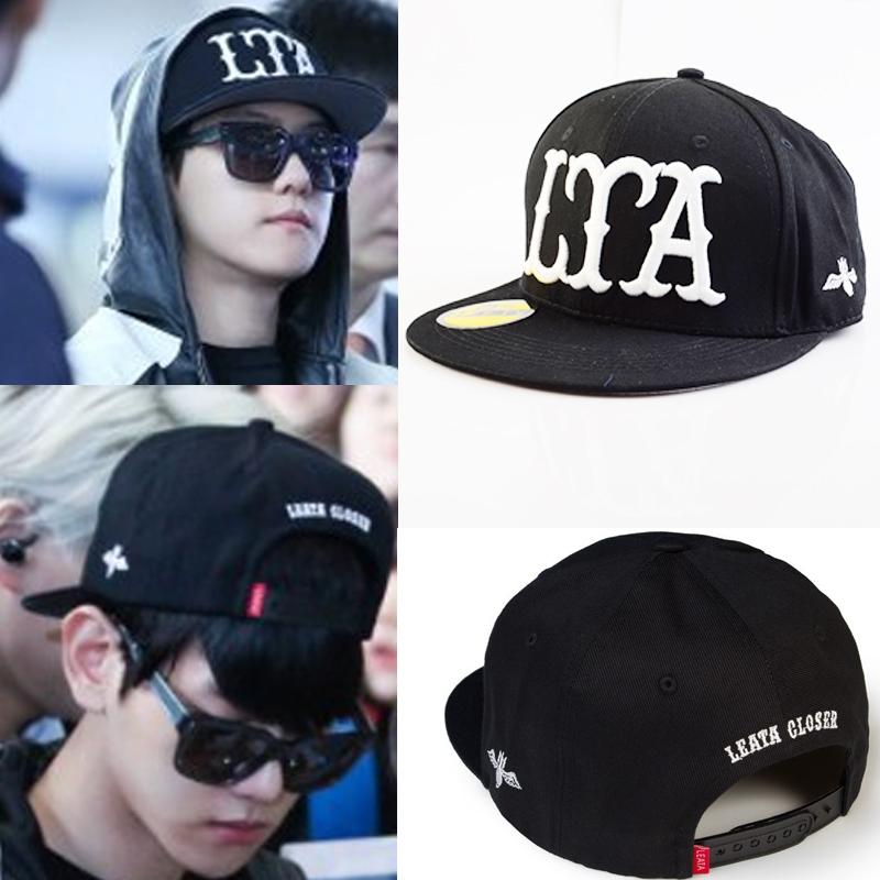 หมวกแฟชั่น EXO BAEKHYUN LTA (สีดำขาว)