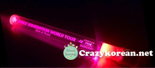 [พร้อมส่ง] แท่งไฟ GG World Tour Girls&Peace