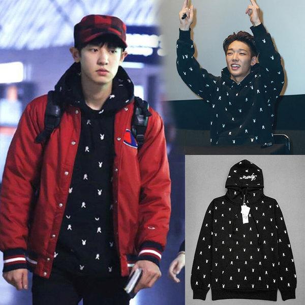 เสื้อแฟชั่นนักร้องเกาหลี เสื้อกันหนาวแฟชั่น EXO CHANYEOL iKON BOBBY