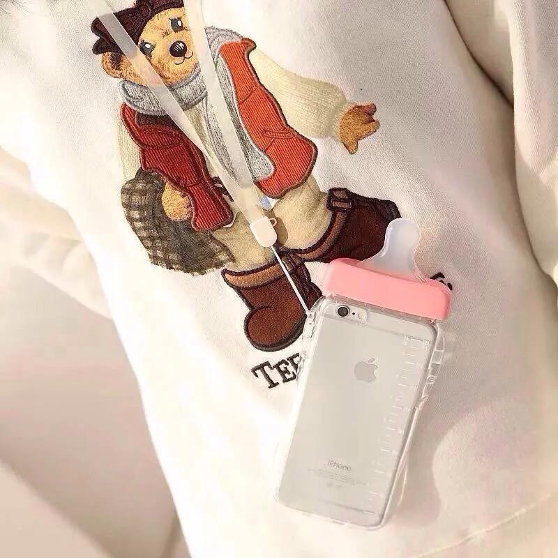 เคสขวดนมมีสายคล้องคอ ไอโฟน 4/4s