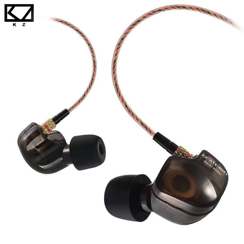 Kz Ate หูฟัง Inear สีดำใส แบบคล้องหู หรูหรา ราคาสุดคุ้ม