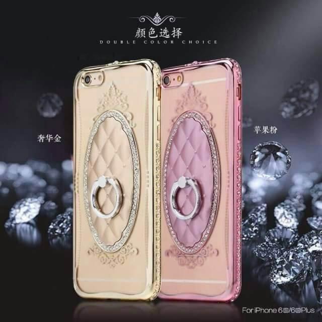 เคสนิ่มแหวนเพชรตั้งได้ ไอโฟน 6/6s 4.7 นิ้ว