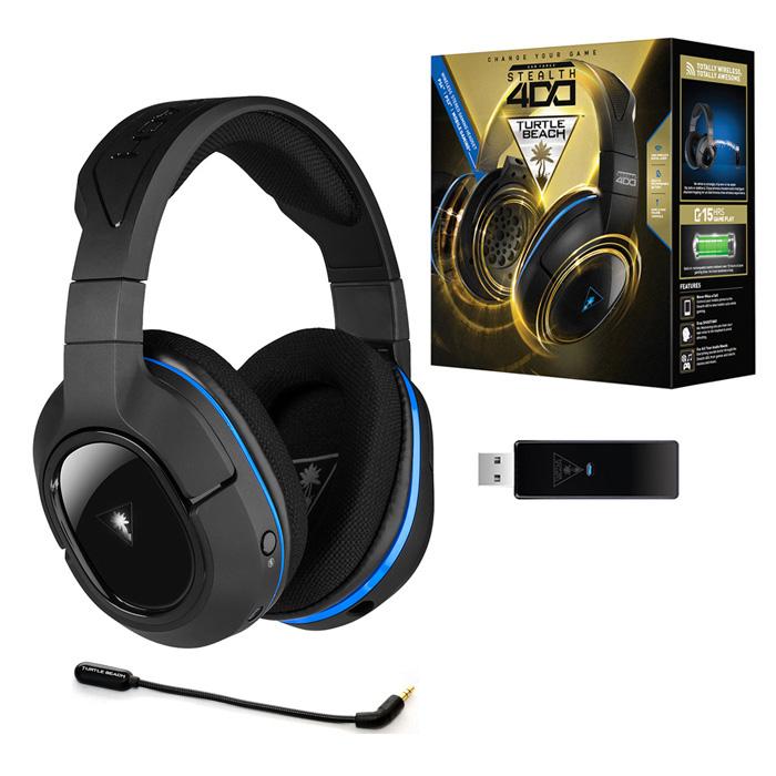 หูฟัง Turtle Beach Stealth 400 Ear force Wireless For Ps3 Ps4 Pc ไร้สาย ถอดสายได้ ไมค์แบบถอดออกได้ เบสหนักแน่น รายละเอียดจัดเต็ม Gaming Gear