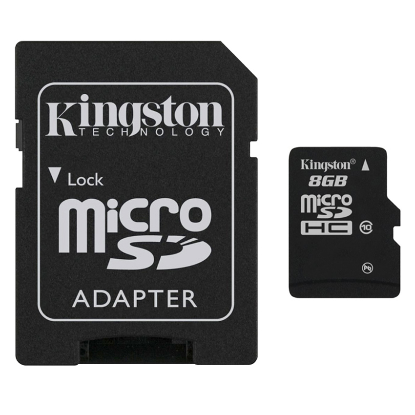 เม็มโมรี่การ์ด Kingston Memory Micro SD Card Class 4 - 8GB with Adapter