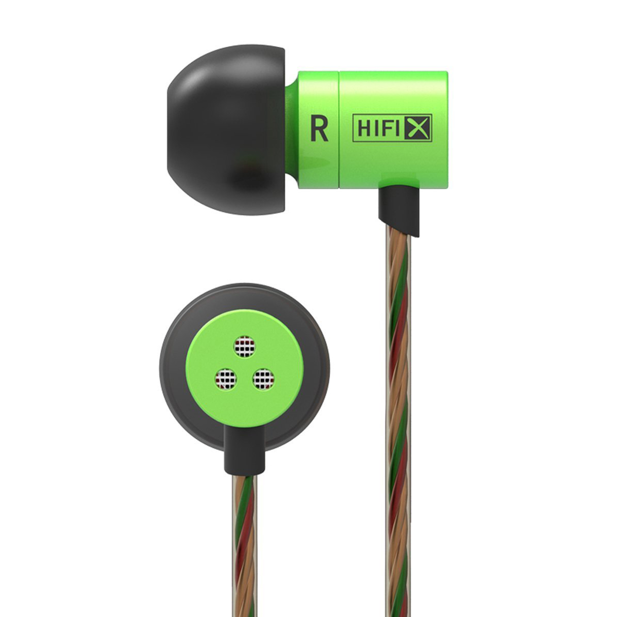 ขาย KZ HDS1 (มีไมค์ในตัว) หูฟังอินเอียร์แนวใหม่จิ๋วแต่แจ๋ว ให้คุณภาพเสียงระดับ HD (สีเขียว)
