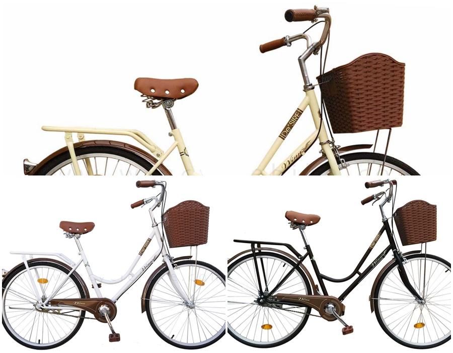 จักรยานแม่บ้าน สไตล์วินเทจ Winn DESIRE วงล้อ 26 นิ้ว พร้อมตะกร้า
