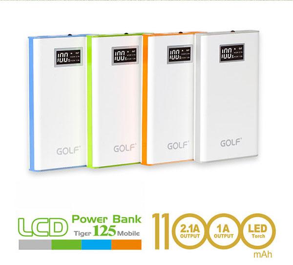 แบตสำรอง Golf ของแท้ รุ่น GF-125 Power bank ความจุ 11000mAh 1แถม1