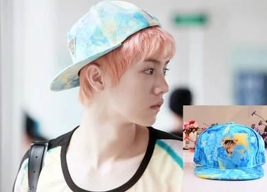 หมวกแฟชั่น EXO LUHAN Girlhood (สีฟ้า)
