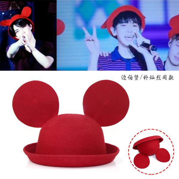 หมวก EXO สีแดง