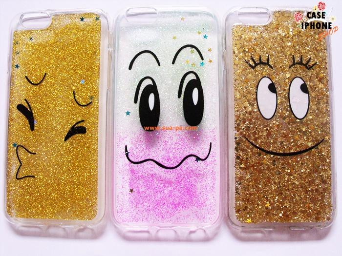 เคสยางนิ่มกากเพชร สไมล์ ไอโฟน 6 4.7 นิ้ว