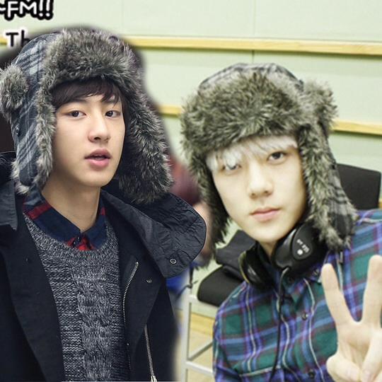 หมวกแฟชั่น EXO CHANYEOL SEHUN