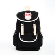 [พร้อมส่ง 1 ใบ]กระเป๋าสะพายหลัง BTS สีดำ