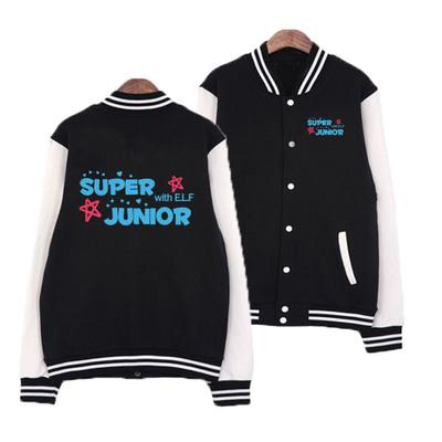 เสื้อเบสบอลแขนยาว SUPER JUNIOR ELF สีดำ