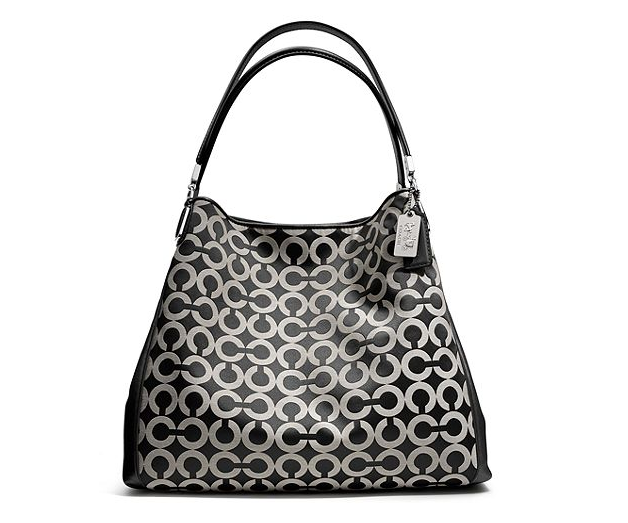 Preorder Coach MADISON SMALL PHOEBE SHOULDER BAG IN OP ART SATEEN FABRIC STYLE NO. 26448