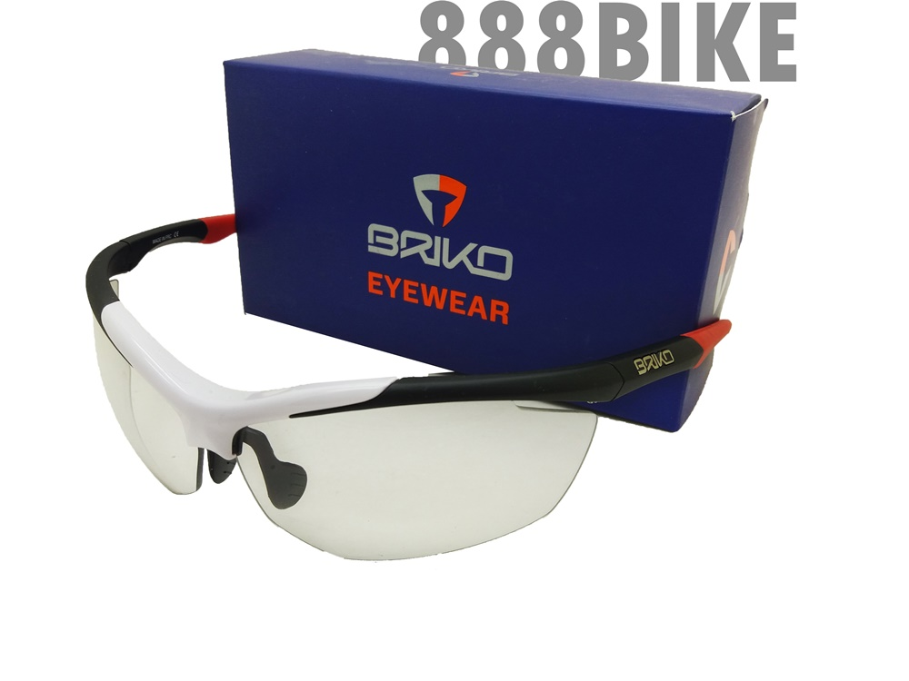 3488727ab36 แว่นตา BRIKO TRIDENT PHOTO (Black White Red) Photochromic Lens  (ปรับแสงอัตโนมัติ)